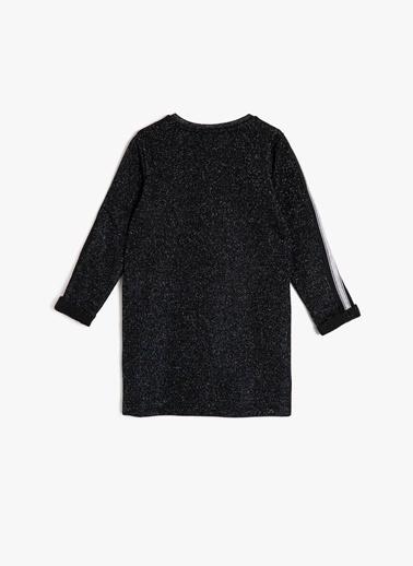 Koton Koton Sim Detaylı Siyah Elbise Siyah